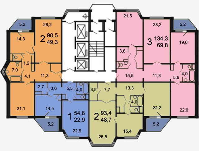 Квартиры серии п-44тм дома п-44тм 25.