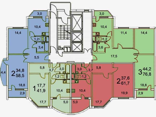 Планировка квартир серии копэ-м-парус дома копэ.